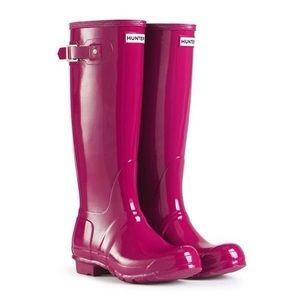 Magenta Tall Hunter Boots
